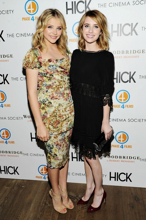 Chloe Grace Moretz and Emma Roberts at the Hick Premiere
