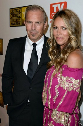 Kevin Costner and Christine Baumgartner at the Critics' Choice TV Awards 2012