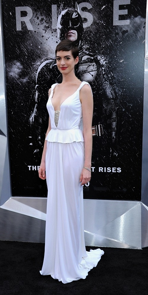 Anne Hathaway at The Dark Knight Rises Premiere | Getty