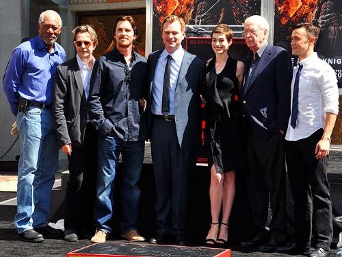 The Dark Knight Rises Cast at Grauman's Chinese Theatre