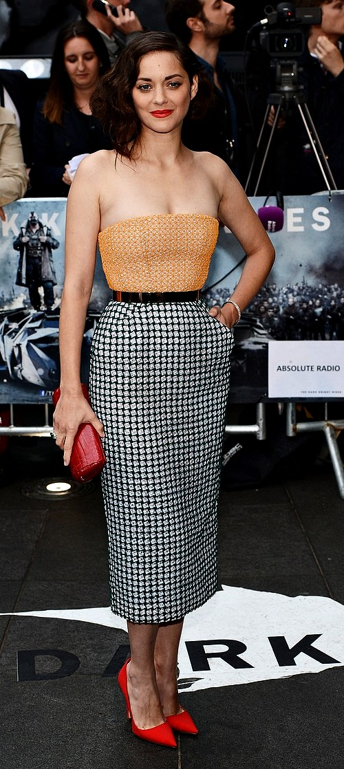 Marion Cotillard at The Dark Knight Rises premiere in London