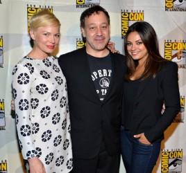 Michelle Williams, Sam Raimi and Mila Kunis at Comic-Con 2012