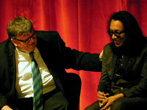 Michael Moore and Rodriguez at the Traverse City Film Festival 2012 | Jane Boursaw Photo