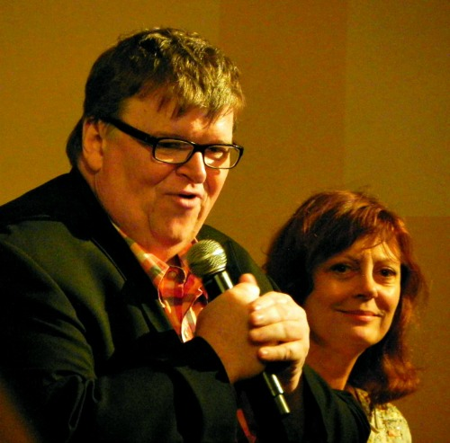 Traverse City Film Festival: Michael Moore and Susan Sarandon, Jane Boursaw Photo