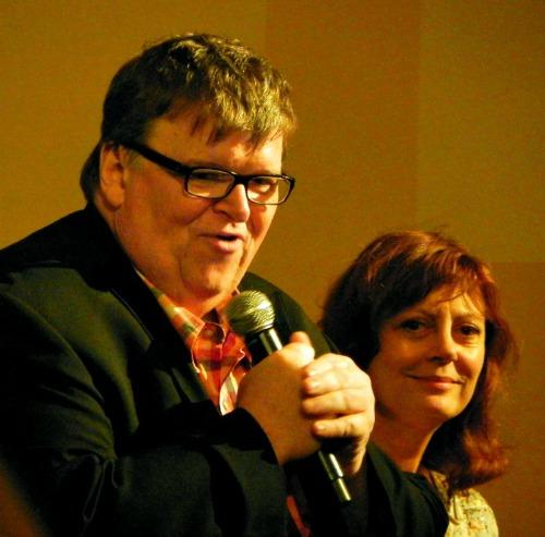 Traverse City Film Festival: Michael Moore and Susan Sarandon, Jane Boursaw Photo
