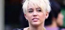 Miley Cyrus Short Blonde Hairdo