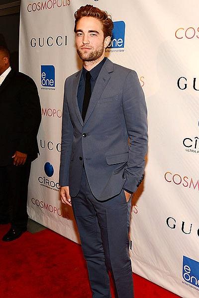 Robert Pattinson wears Gucci at Cosmopolis Premiere