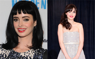 Krysten Ritter and Zooey Deschanel