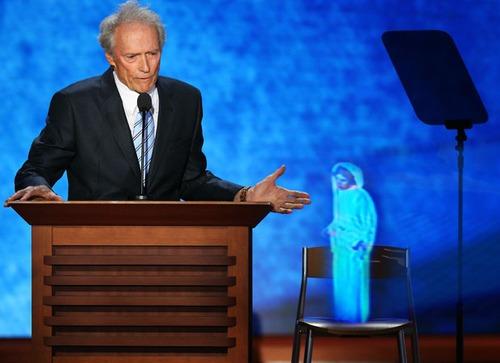 Clint Eastwood Empty Chair: Princess Leia