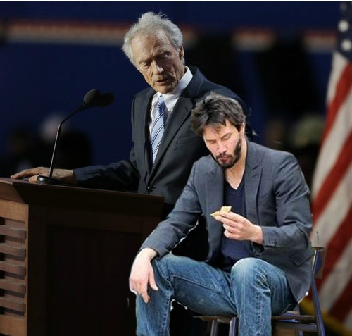 Clint Eastwood Empty Chair: Sad Keanu