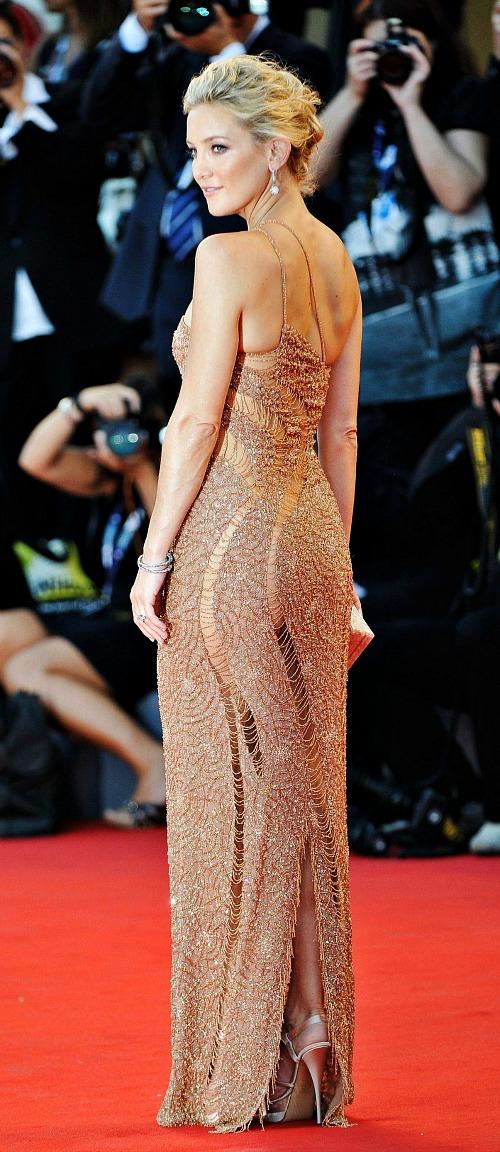 Kate Hudson in Versace, Venice Film Festival 2012