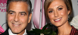 George Clooney and Stacy Keibler at the Carousel of Hope Ball