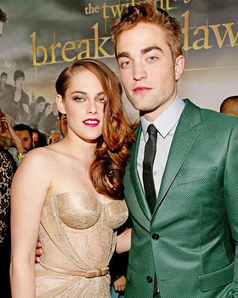 Kristen Stewart and Rob Pattinson at the Breaking Dawn Part 2 Premiere