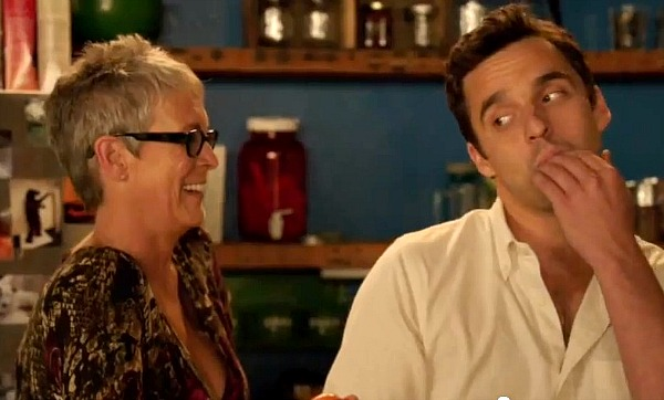 New Girl Outtakes, Jamie Lee Curtis, Jake Johnson