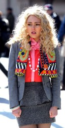 AnnaSophia Robb on the set of The Carrie Diaries