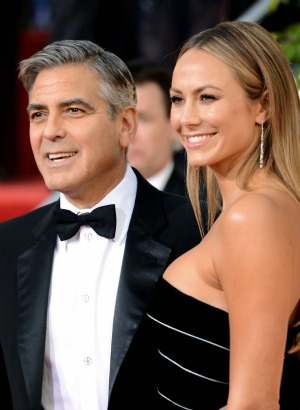 George Clooney and Stacy Keibler at the 2013 Golden Globes