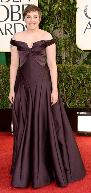 Lena Dunham at the Golden Globes 2013