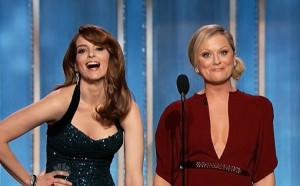Tina Fey and Amy Poehler at the Golden Globes 2013