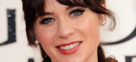 Zooey Deschanel at the Golden Globes 2013