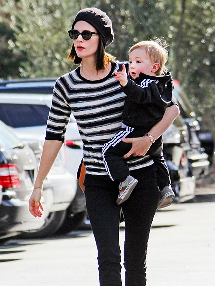 January Jones and son Xander
