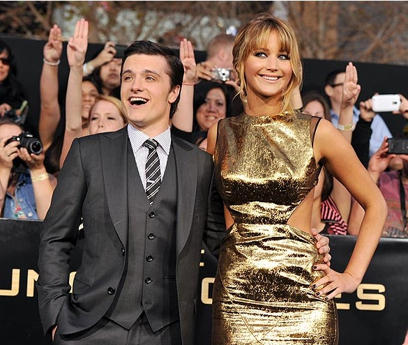 Josh Hutcherson and Jennifer Lawrence from The Hunger Games