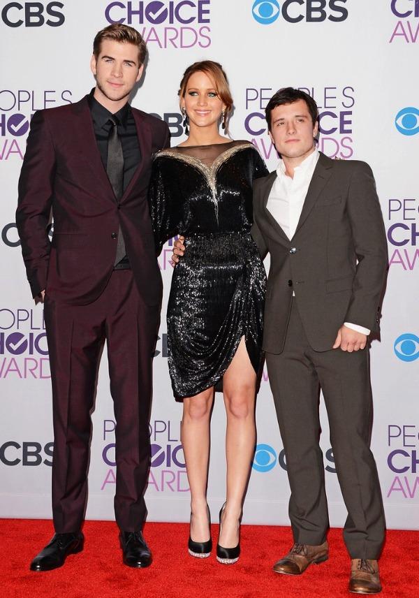 Liam Hemsworth, Jennifer Lawrence and Josh Hutcherson