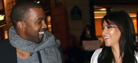 Kim Kardashian and Kanye West in Paris, Jan 2013