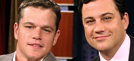 Matt Damon and Jimmy Kimmel