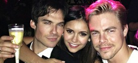 Ian Somerhalder, Nina Dobrev and Derek Hough