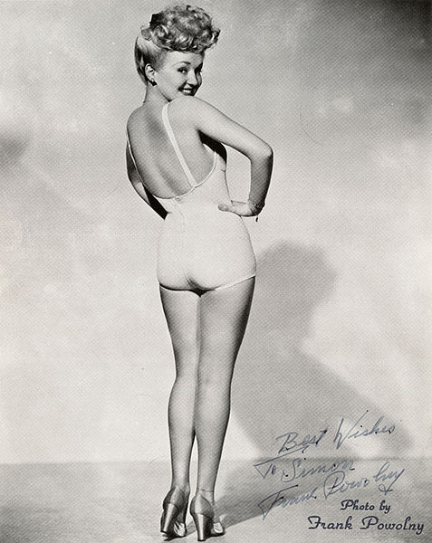 Betty Grabel Pin up poster