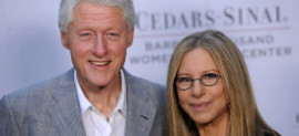 Bill Clinton and Barbra Streisand