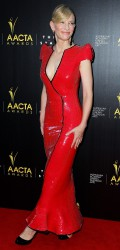 Cate Blanchett in Latex-Like Armani Prive