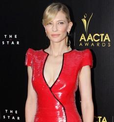 Cate Blanchett in Latex-Like Armani Prive