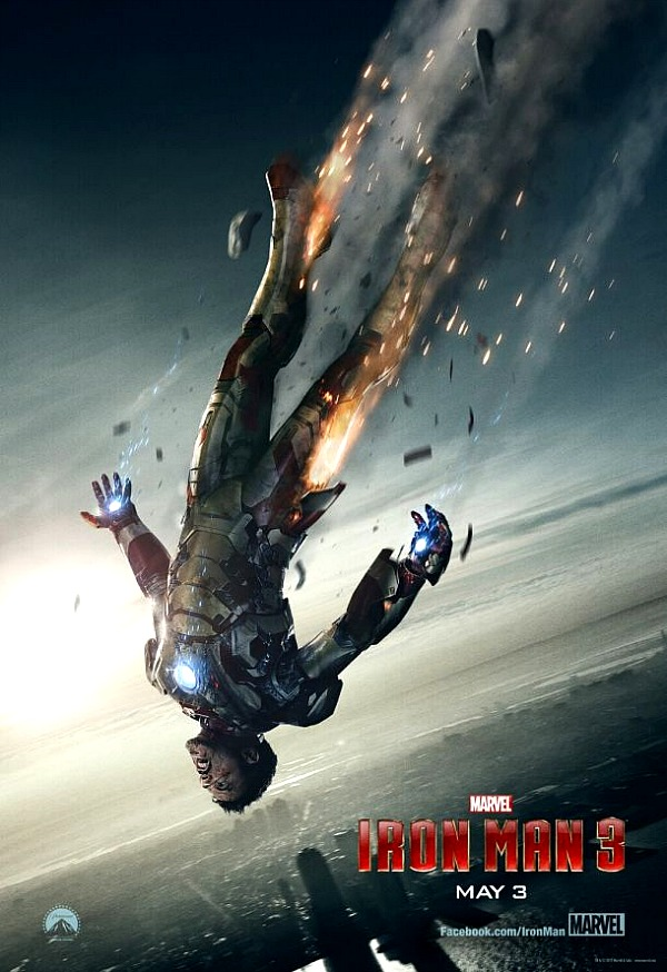 Iron Man 3 Poster with Flames