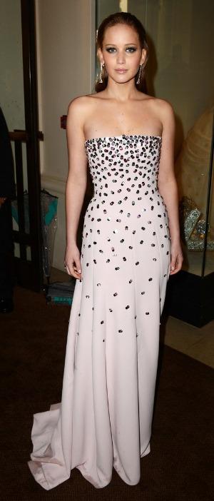 BAFTAs 2013: Jennifer Lawrence