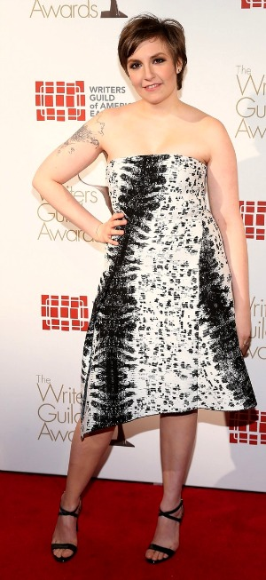 Lena Dunham at the Writers Guild Awards 2013