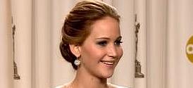Oscars 2013: Jennifer Lawrence Backstage