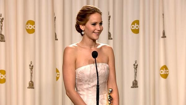 Oscars 2013: Jennifer Lawrence Backstage