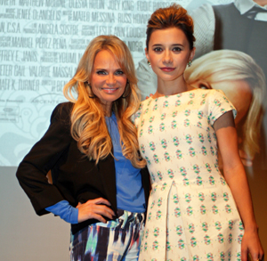 "Kristin Chenoweth and Olesya Rulin at the press conference for ""Family Weekend"" Melanie Votaw Photo"
