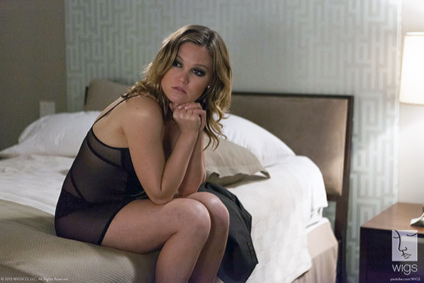 """Julia Stiles as """"Blue"""" on the innovative WIGS dramatic series on YouTube."""