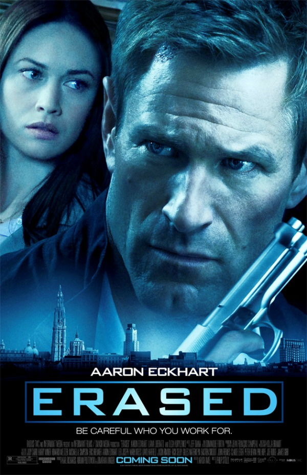 Aaron Eckhart in Erased Poster