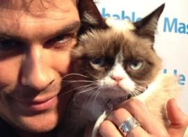 SXSW: Ian Somerhalder and Grumpy Cat