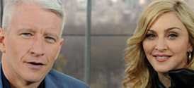 Madonna and Anderson Cooper