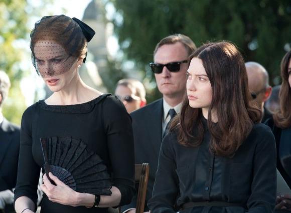 Mia Wasikowska and Matthew Goode in Stoker
