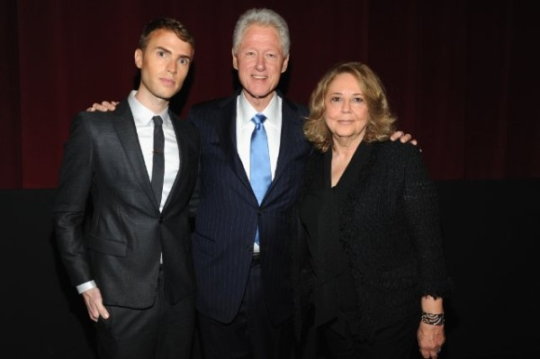 "Shane Bitney Crone, President Bill Clinton, and Linda Bloodworth-Thomason at the Tribeca Film Festival premiere of ""Bridgegroom"" Courtesy of the Tribeca Film Festival"