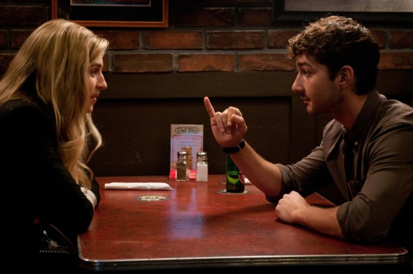 """Brit Marling and Shia LaBeouf in """"The Company You Keep"""" 