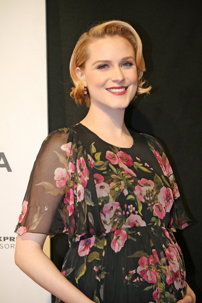 "Evan Rachel Wood on the red carpet for the premiere of ""A Case of You"" at the Tribeca Film Festival 