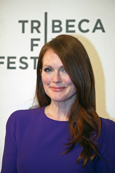 """Julianne Moore at the premiere of her movie, """"The English Teacher"""" at the Tribeca Film Festival 