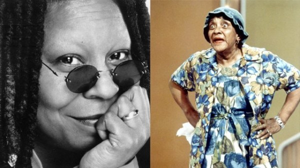 Whoopi Goldberg and Moms Mabley