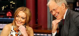 Lindsay Lohan and David Letterman